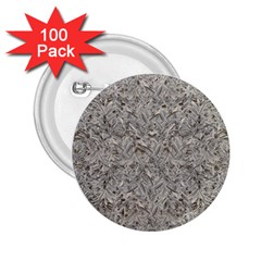 Silver Tropical Print 2.25  Buttons (100 pack)