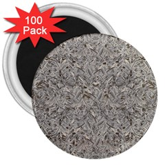 Silver Tropical Print 3  Magnets (100 pack)
