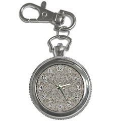Silver Tropical Print Key Chain Watches