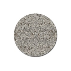 Silver Tropical Print Magnet 3  (Round)