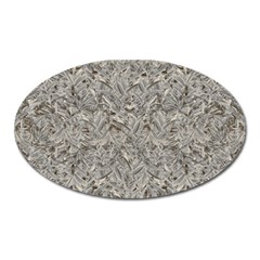 Silver Tropical Print Oval Magnet