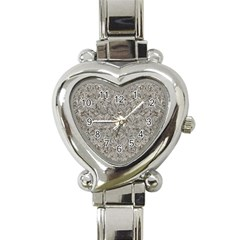 Silver Tropical Print Heart Italian Charm Watch
