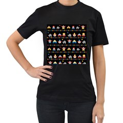 Circus Women s T-Shirt (Black) (Two Sided)