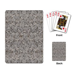 Silver Tropical Print Playing Card