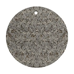 Silver Tropical Print Round Ornament (Two Sides)