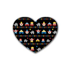 Circus Heart Coaster (4 pack)