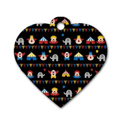 Circus Dog Tag Heart (One Side)