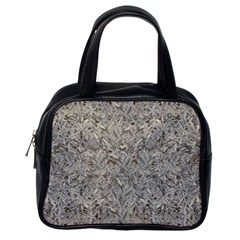 Silver Tropical Print Classic Handbags (One Side)