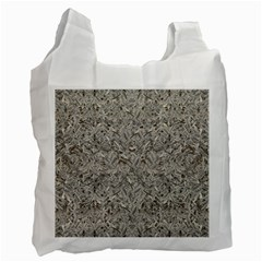 Silver Tropical Print Recycle Bag (One Side)
