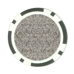Silver Tropical Print Poker Chip Card Guard (10 pack)