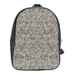 Silver Tropical Print School Bags(Large)