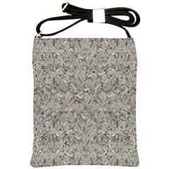 Silver Tropical Print Shoulder Sling Bags