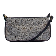 Silver Tropical Print Shoulder Clutch Bags