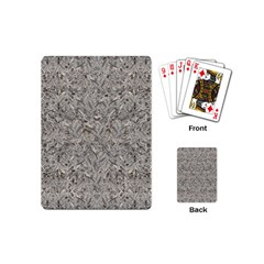 Silver Tropical Print Playing Cards (Mini)
