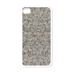 Silver Tropical Print Apple iPhone 4 Case (White)