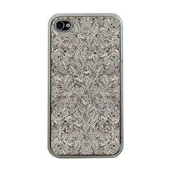 Silver Tropical Print Apple iPhone 4 Case (Clear)