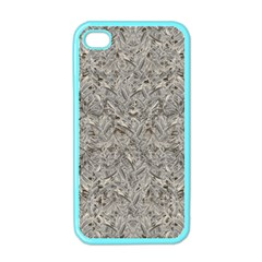 Silver Tropical Print Apple iPhone 4 Case (Color)
