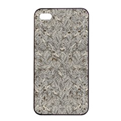 Silver Tropical Print Apple iPhone 4/4s Seamless Case (Black)
