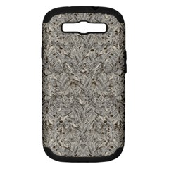 Silver Tropical Print Samsung Galaxy S III Hardshell Case (PC+Silicone)