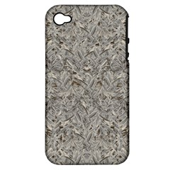 Silver Tropical Print Apple iPhone 4/4S Hardshell Case (PC+Silicone)
