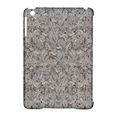 Silver Tropical Print Apple iPad Mini Hardshell Case (Compatible with Smart Cover)