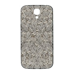 Silver Tropical Print Samsung Galaxy S4 I9500/I9505  Hardshell Back Case