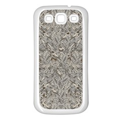 Silver Tropical Print Samsung Galaxy S3 Back Case (White)