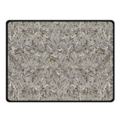 Silver Tropical Print Double Sided Fleece Blanket (Small)