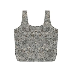 Silver Tropical Print Full Print Recycle Bags (S)