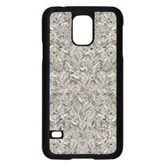 Silver Tropical Print Samsung Galaxy S5 Case (Black)