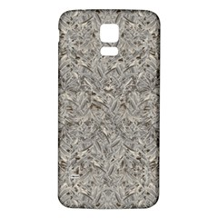 Silver Tropical Print Samsung Galaxy S5 Back Case (White)