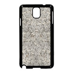 Silver Tropical Print Samsung Galaxy Note 3 Neo Hardshell Case (Black)