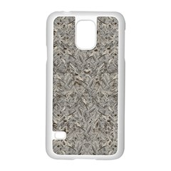 Silver Tropical Print Samsung Galaxy S5 Case (White)