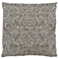 Silver Tropical Print Large Flano Cushion Case (Two Sides)