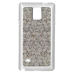 Silver Tropical Print Samsung Galaxy Note 4 Case (White)