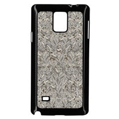 Silver Tropical Print Samsung Galaxy Note 4 Case (Black)