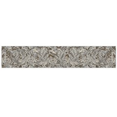Silver Tropical Print Flano Scarf (Large)