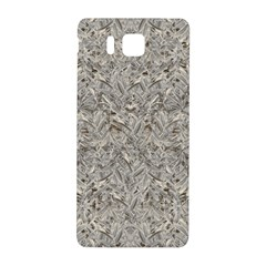 Silver Tropical Print Samsung Galaxy Alpha Hardshell Back Case