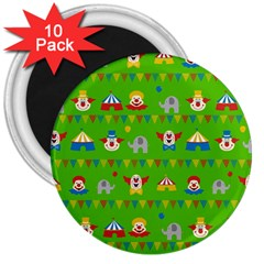Circus 3  Magnets (10 pack)