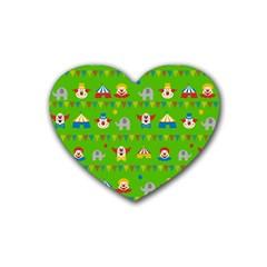 Circus Rubber Coaster (Heart)