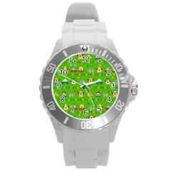 Circus Round Plastic Sport Watch (L)