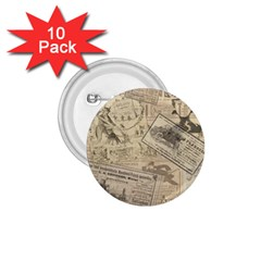 Vintage newspaper  1.75  Buttons (10 pack)