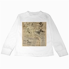 Vintage newspaper  Kids Long Sleeve T-Shirts