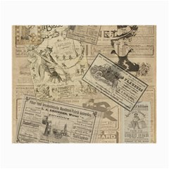 Vintage newspaper  Small Glasses Cloth (2-Side)