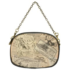 Vintage newspaper  Chain Purses (One Side)