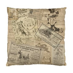 Vintage newspaper  Standard Cushion Case (Two Sides)