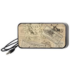 Vintage newspaper  Portable Speaker (Black)