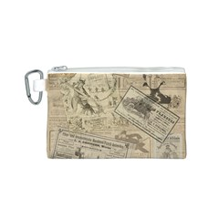 Vintage newspaper  Canvas Cosmetic Bag (S)