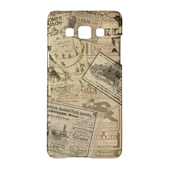 Vintage newspaper  Samsung Galaxy A5 Hardshell Case