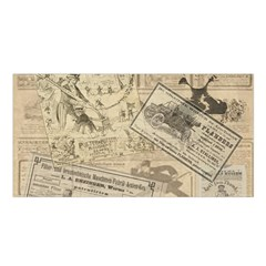 Vintage Newspaper  Satin Shawl